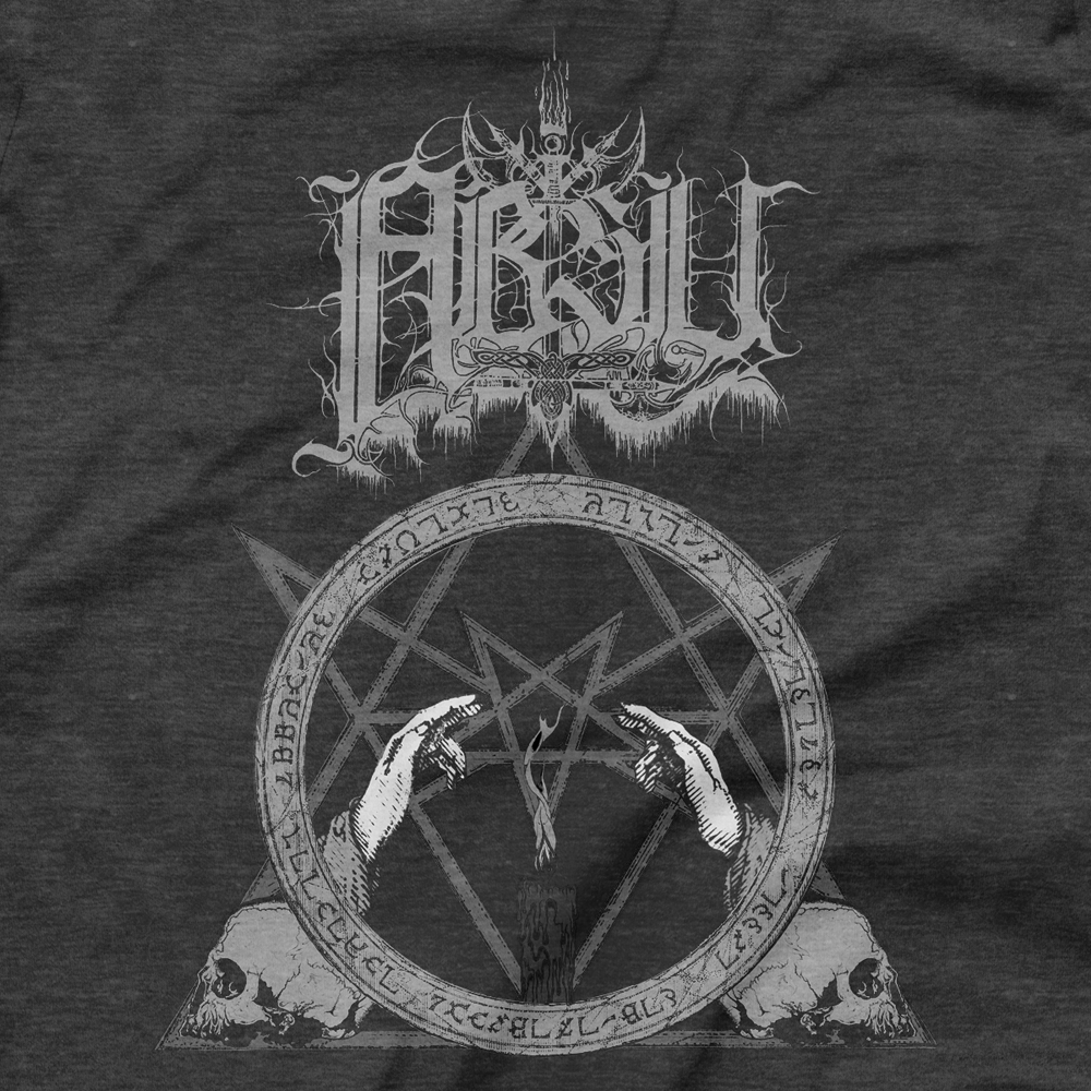 Image of ABSU - NEVER BLOW OUT THE EASTERN CANDLE (GREY PRINT) 10