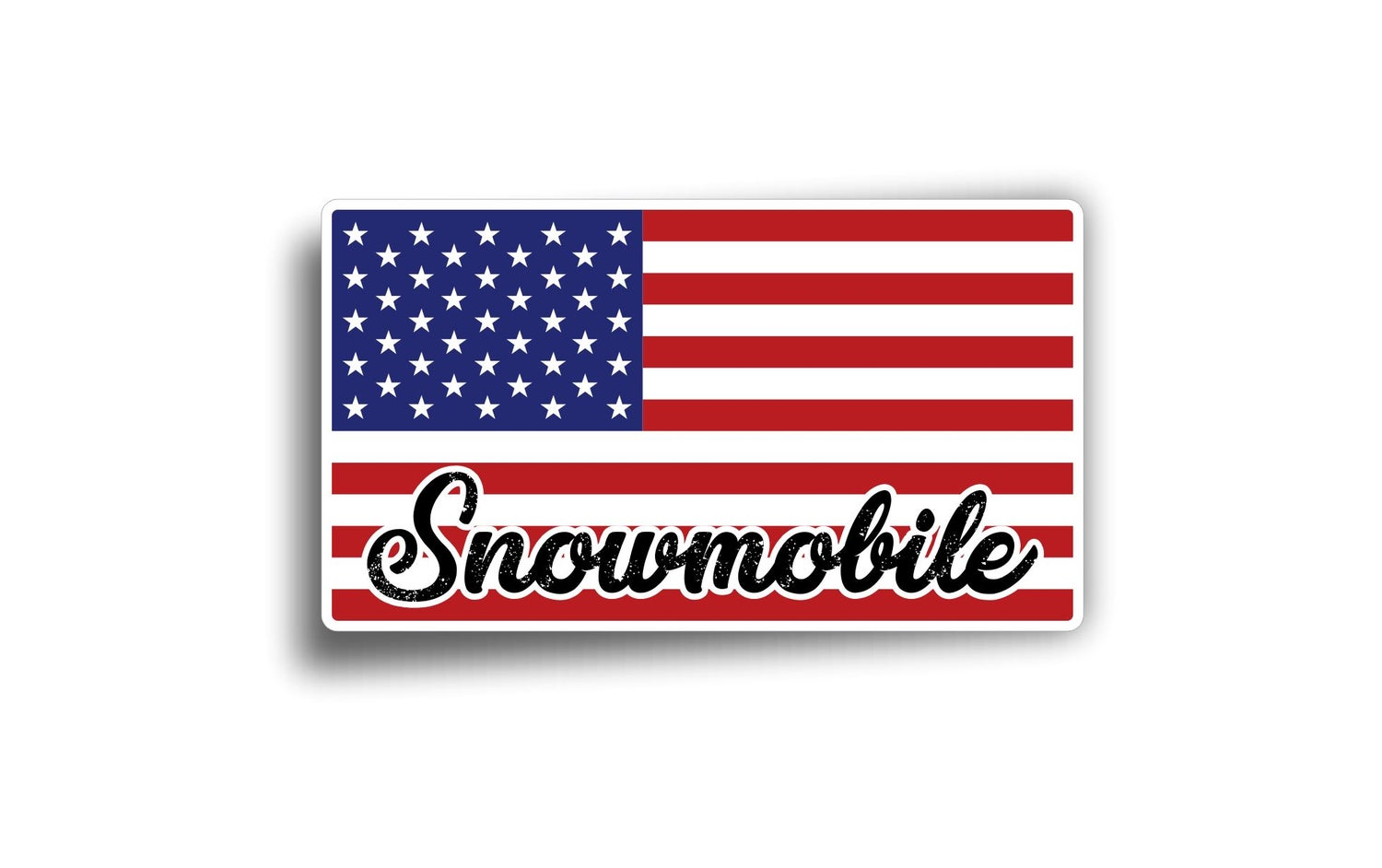 Image of AMERICAN FLAG SNOWMOBILE
