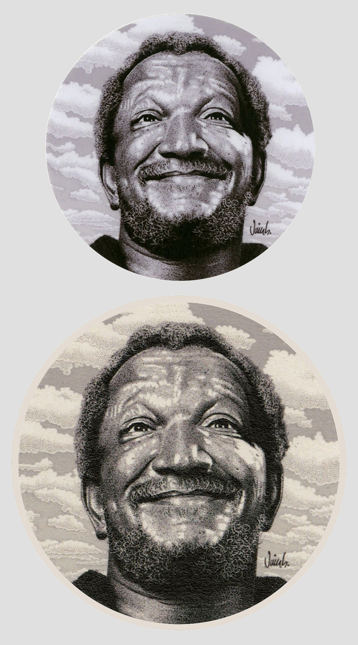 Image of REDD FOXX sticker & coaster set