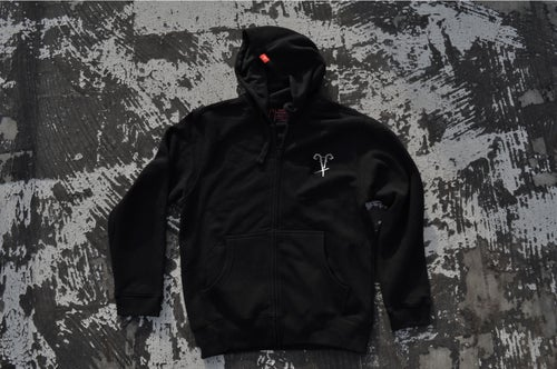 "Image of ""Circle of Fire"" Black ZipUp Hoodie"