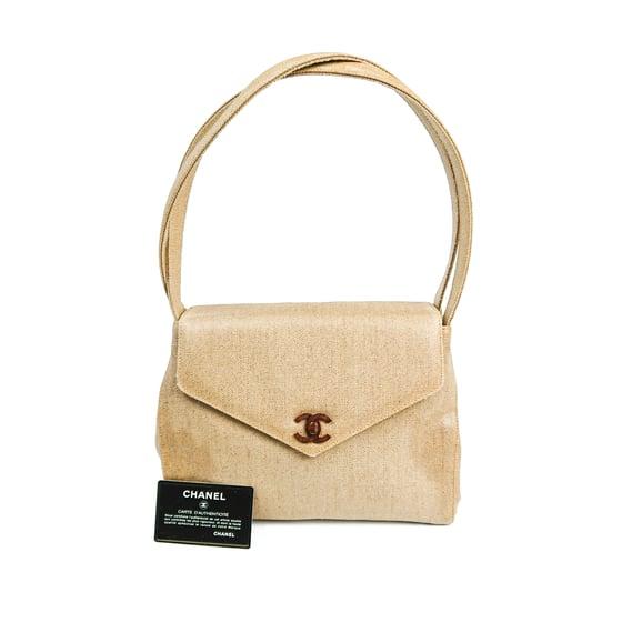 Image of Chanel Canvas Kelly Shoulder Bag