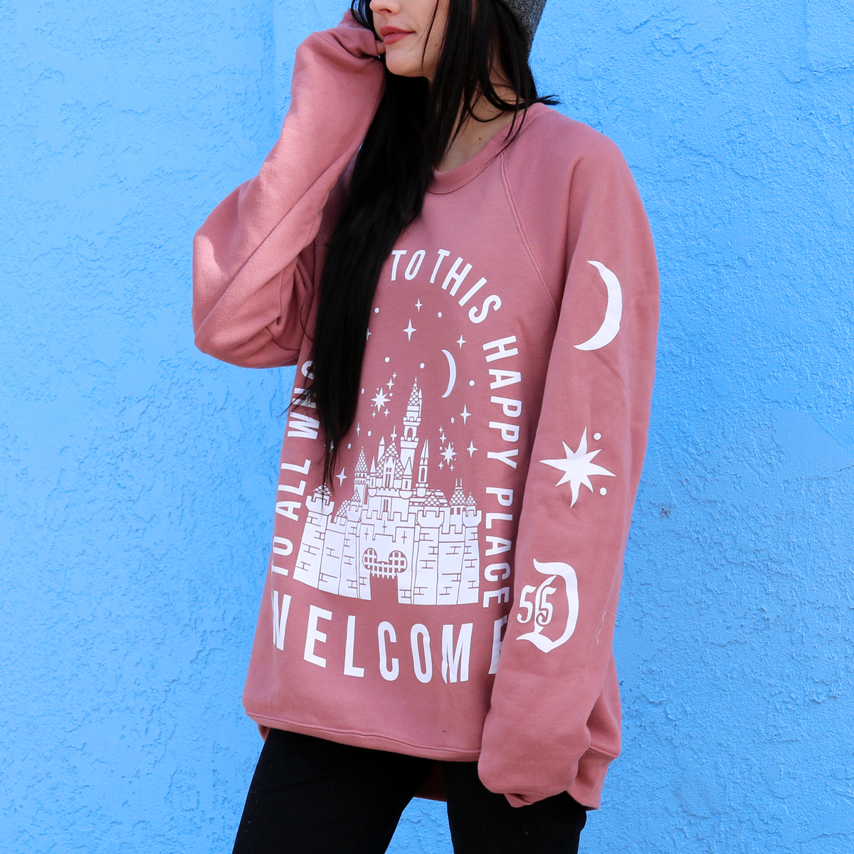 Image of Welcome Crewneck Sweater Mauve