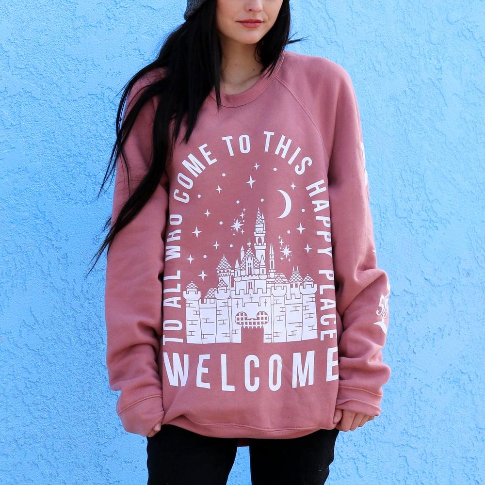 Image of Welcome Crewneck Sweater Mauve