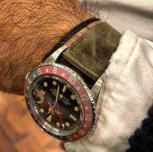 Image of Waxed calfskin vintage watch strap