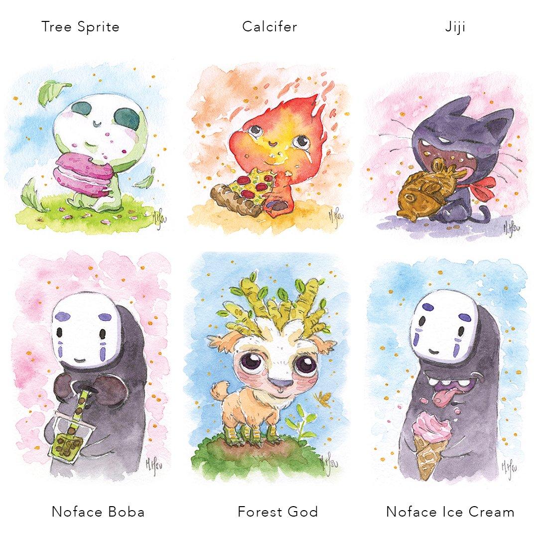 "Ghibli Babies 5x7"" Prints"