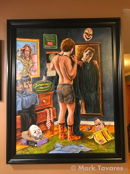 "Image of ""Getting Ready for the Big Night!"" Painting (a tribute to John Carpenter's ""Halloween"")"