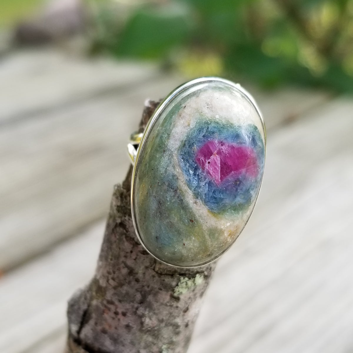 Image of Sassy Ring - Ruby Fuchsite in Sterling