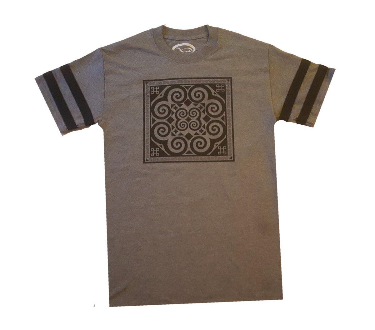 Image of Grey Stripe Tribal T-Shirt