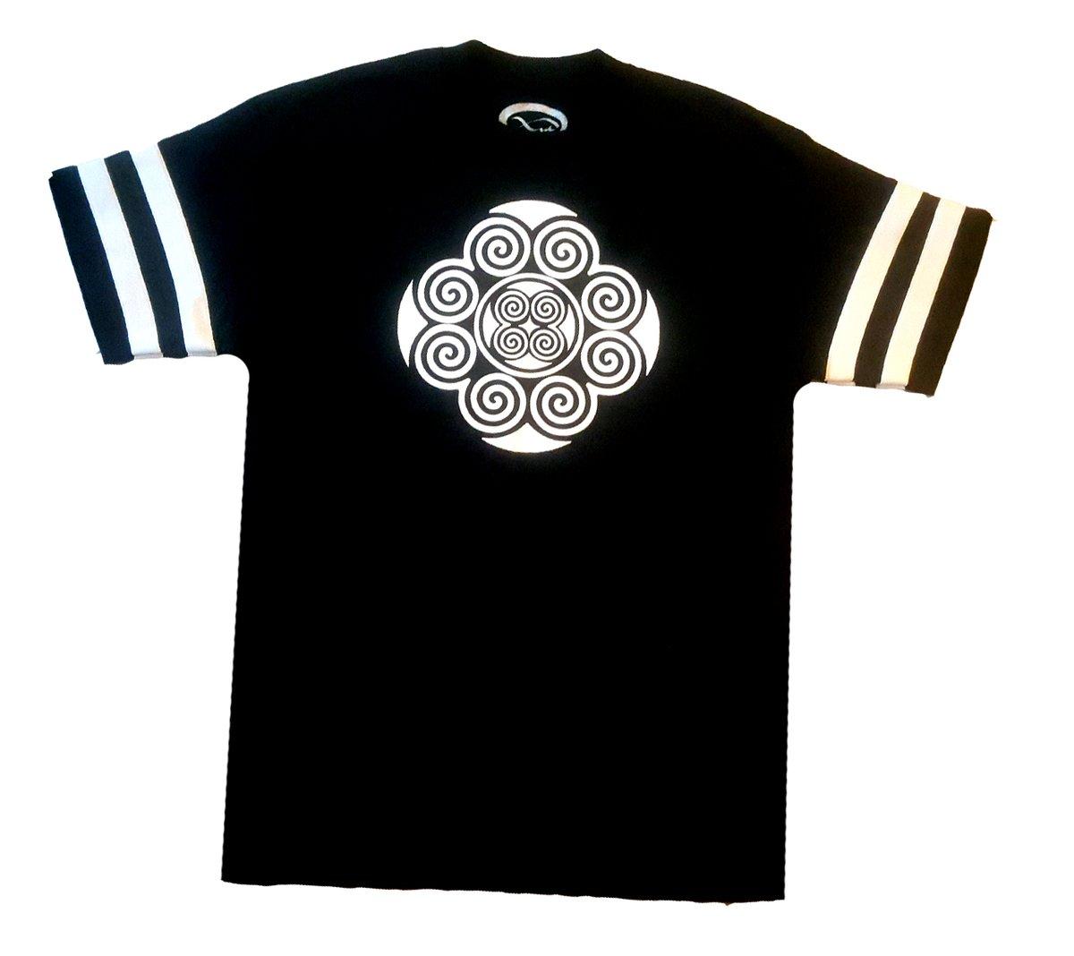 Image of Black Stripe Tribal T-Shirt