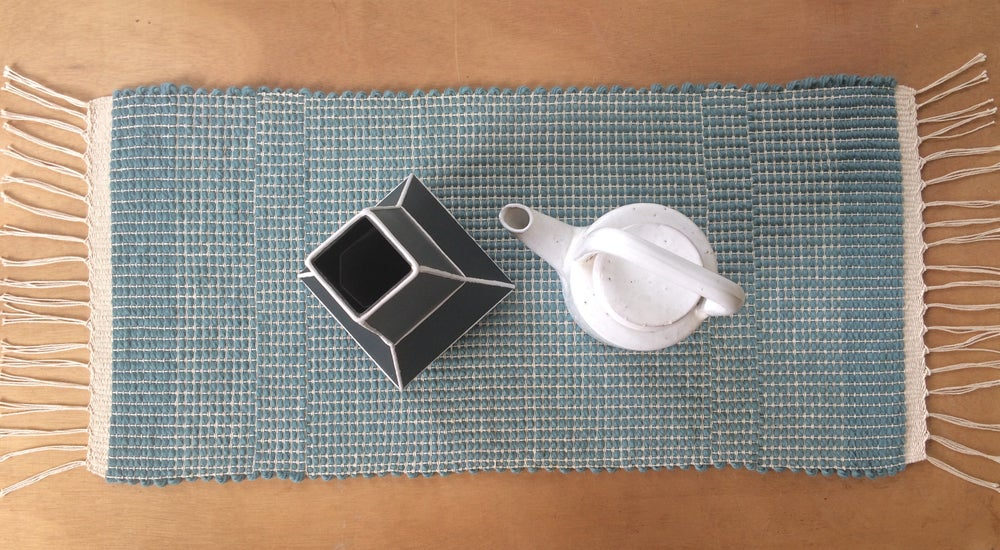 Image of Table Runner // Helio Turquoise