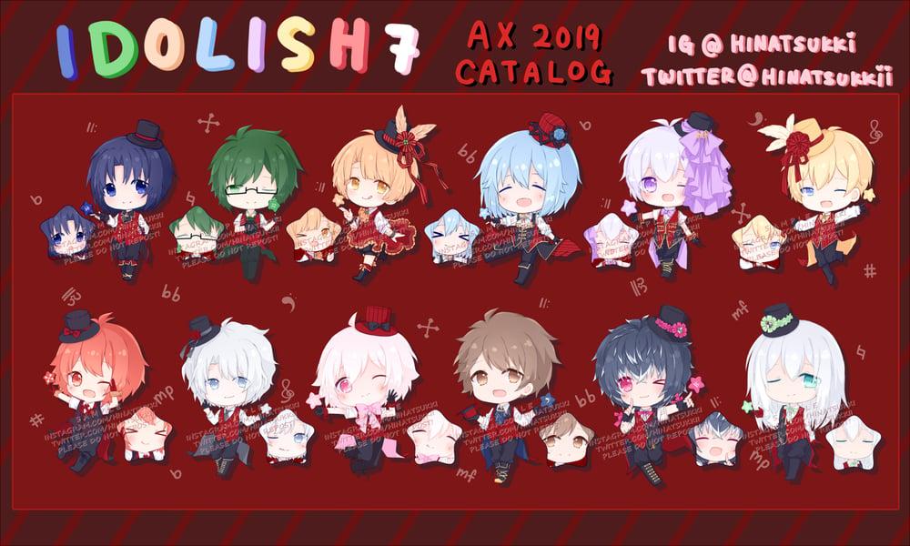 Image of Idolish7 Twinkle 12 Keychains (2.5inch double sided)
