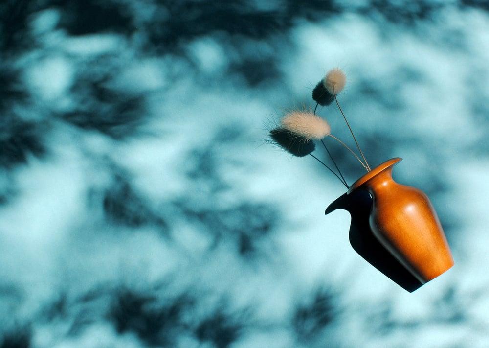 Image of Miniature apricot bud vase