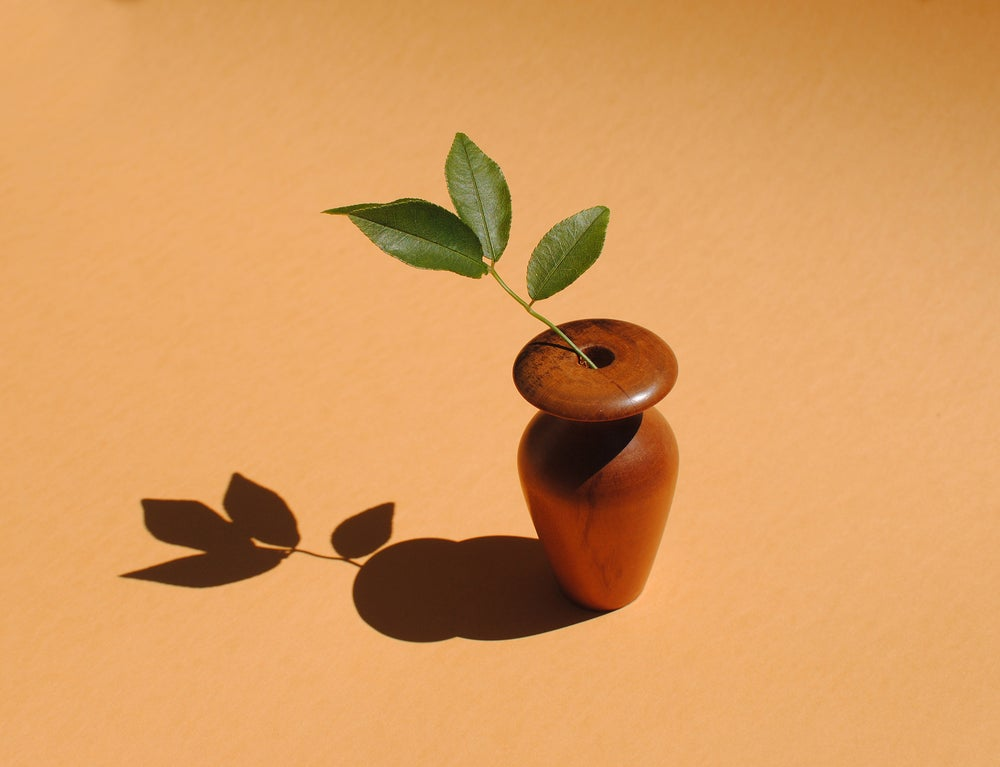Image of Miniature flare-top apricot bud vase