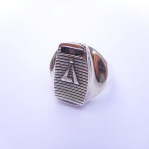 Image of 925 Silver skinny cap ring