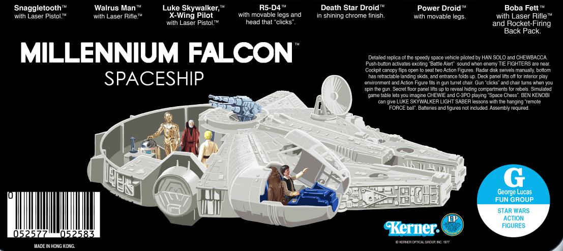 Image of Vintage 1978 Star Wars Kenner cardback poster