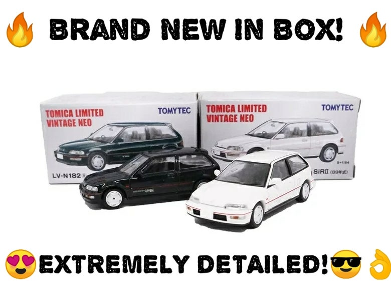 Image of Rare EF9 Sir II Honda Civic Tomica 1/64 Limited Vintage Model Car