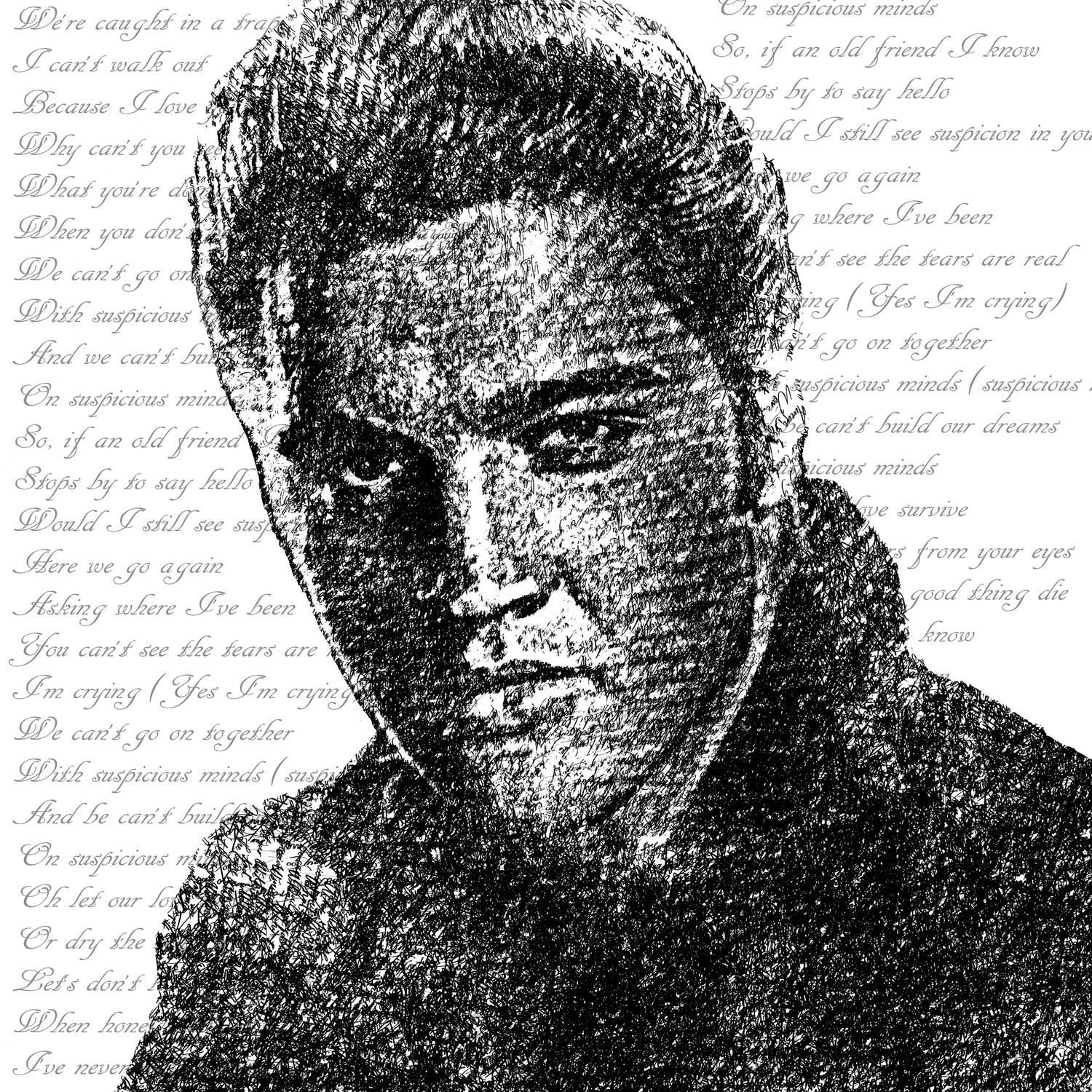 Image of #146 Elvis made with text