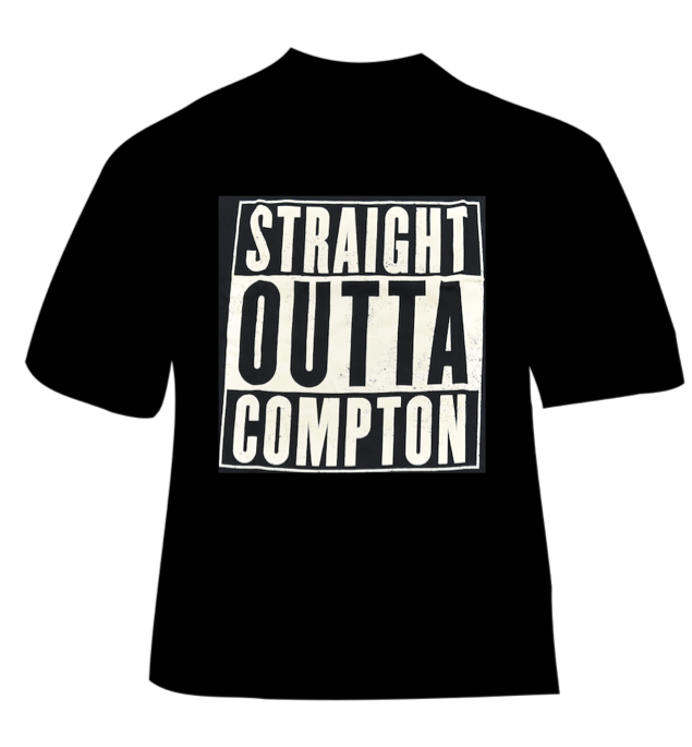 Image of STRAIGHT OUTTA COMPTON TSHIRT