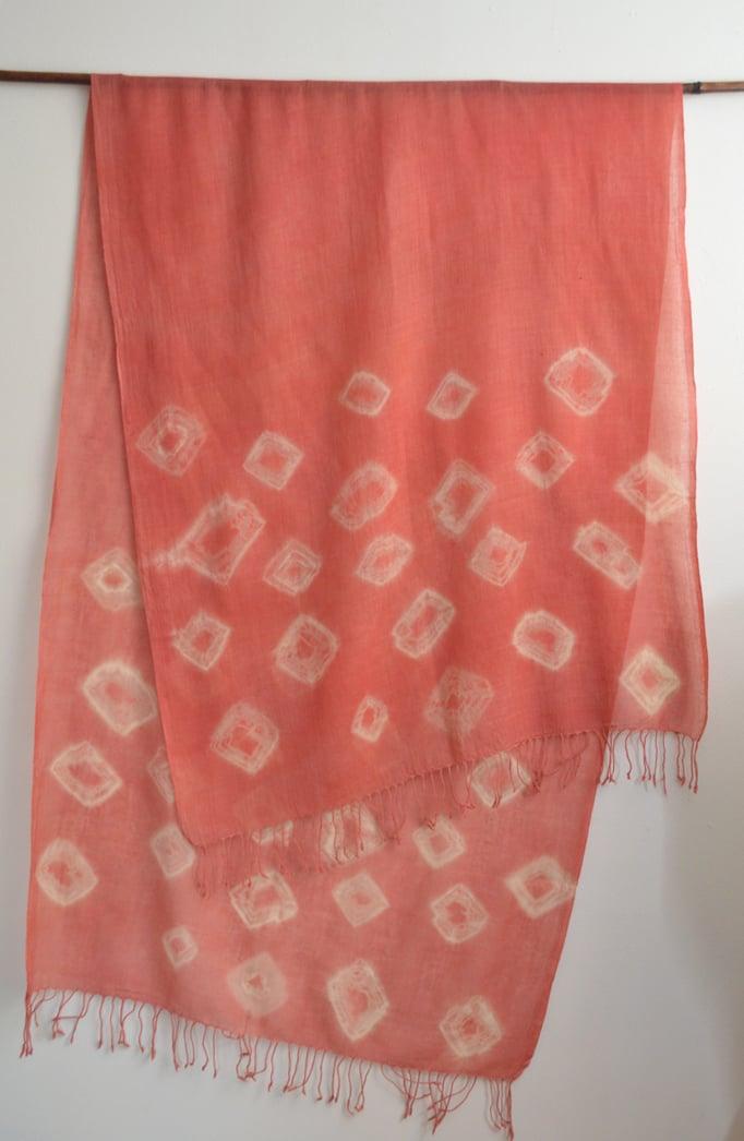 Image of Shibori cashmere shawl