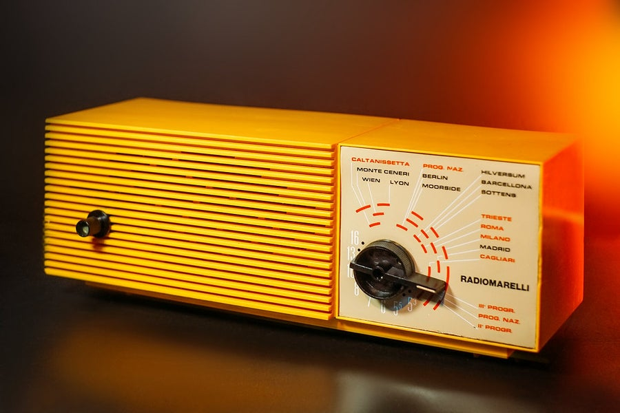 Image of RADIOMARELLI RD329 YELLOW (1971) RADIO VINTAGE BLUETOOTH