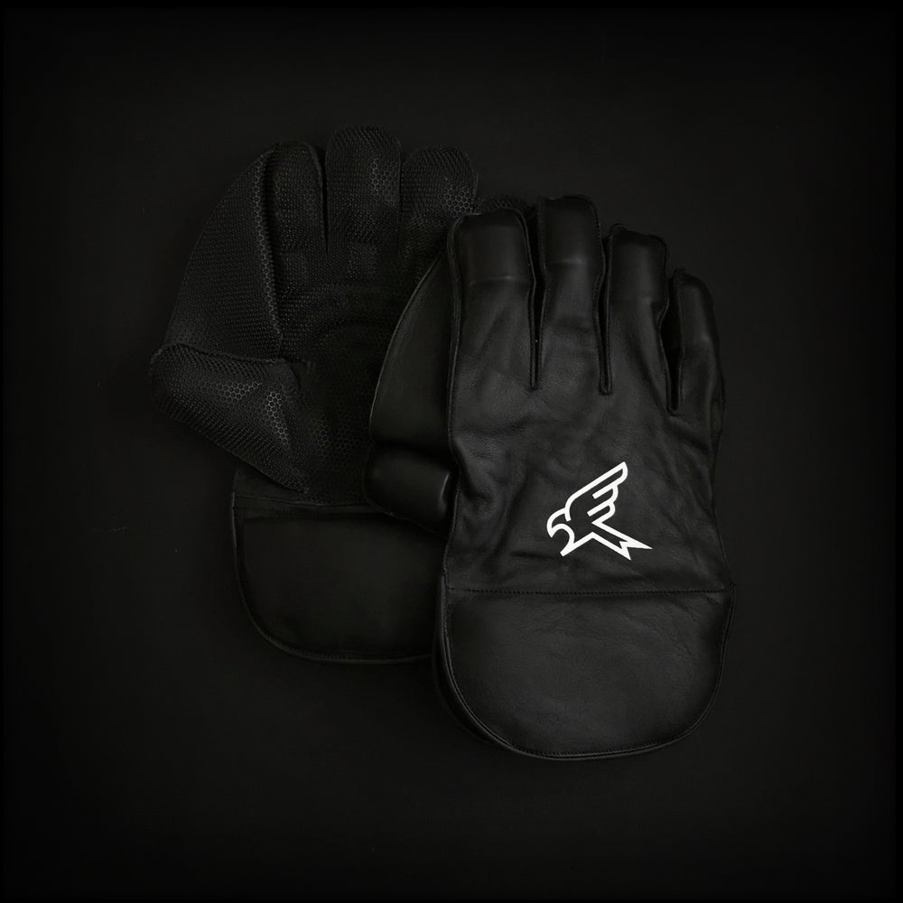 Image of Pro Black Wicket Keeping Gloves