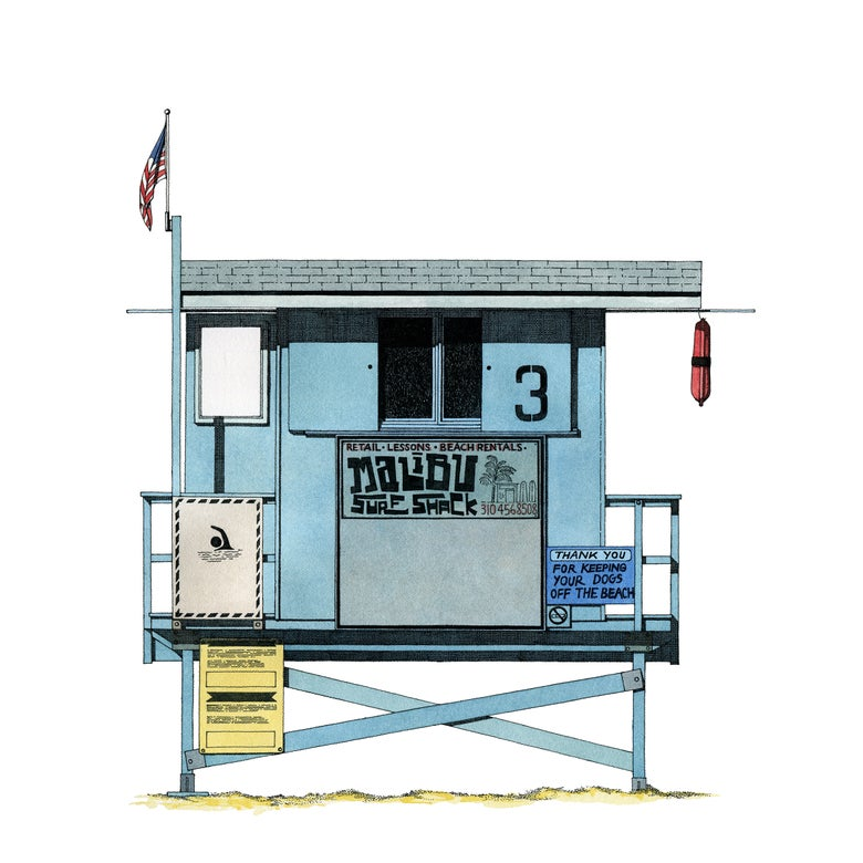 Image of Los Angeles, Malibu Lifeguard hut.