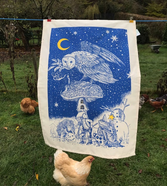 Image of The story teller tea towel/ wall hanging
