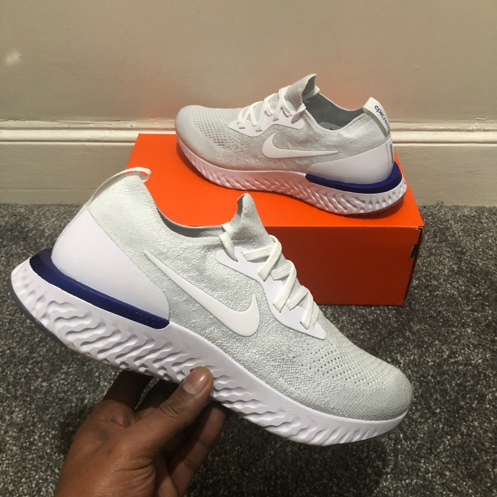 Image of Nike Epic React Flyknit White