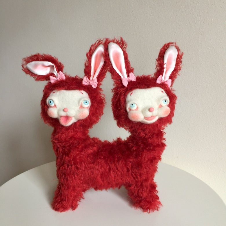 Image of Dagmar and Delilah the Two-headed Bunny