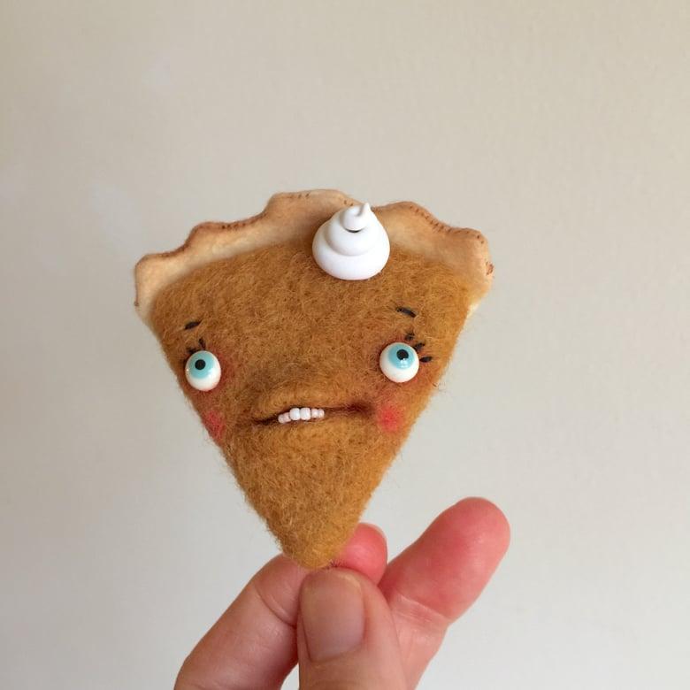 Image of Toothy Pumpkin Pie #2 Ornament or Brooch