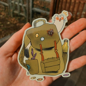backpack buddy sticker