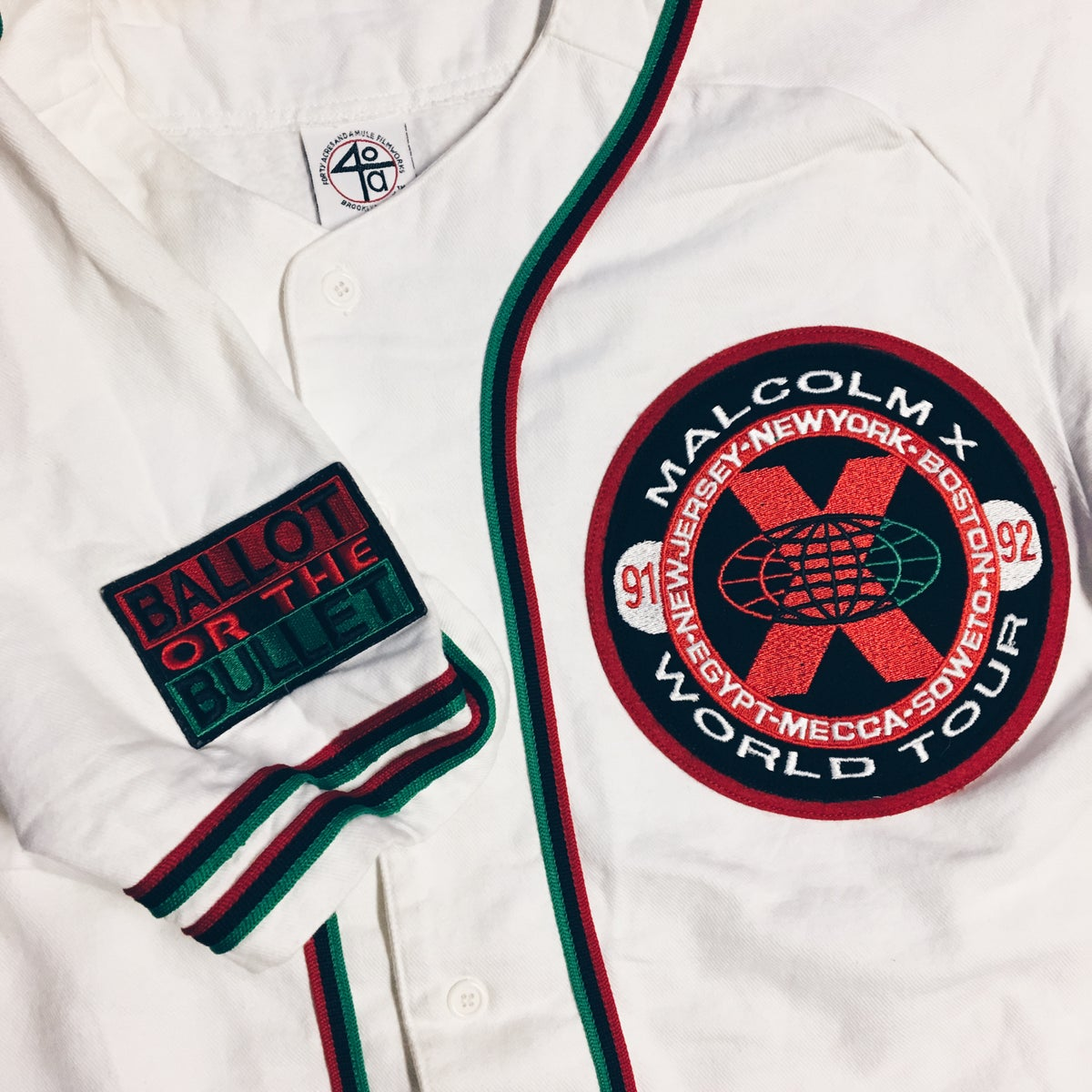 Image of Original 90's Spike Lee Malcom X Jersey.