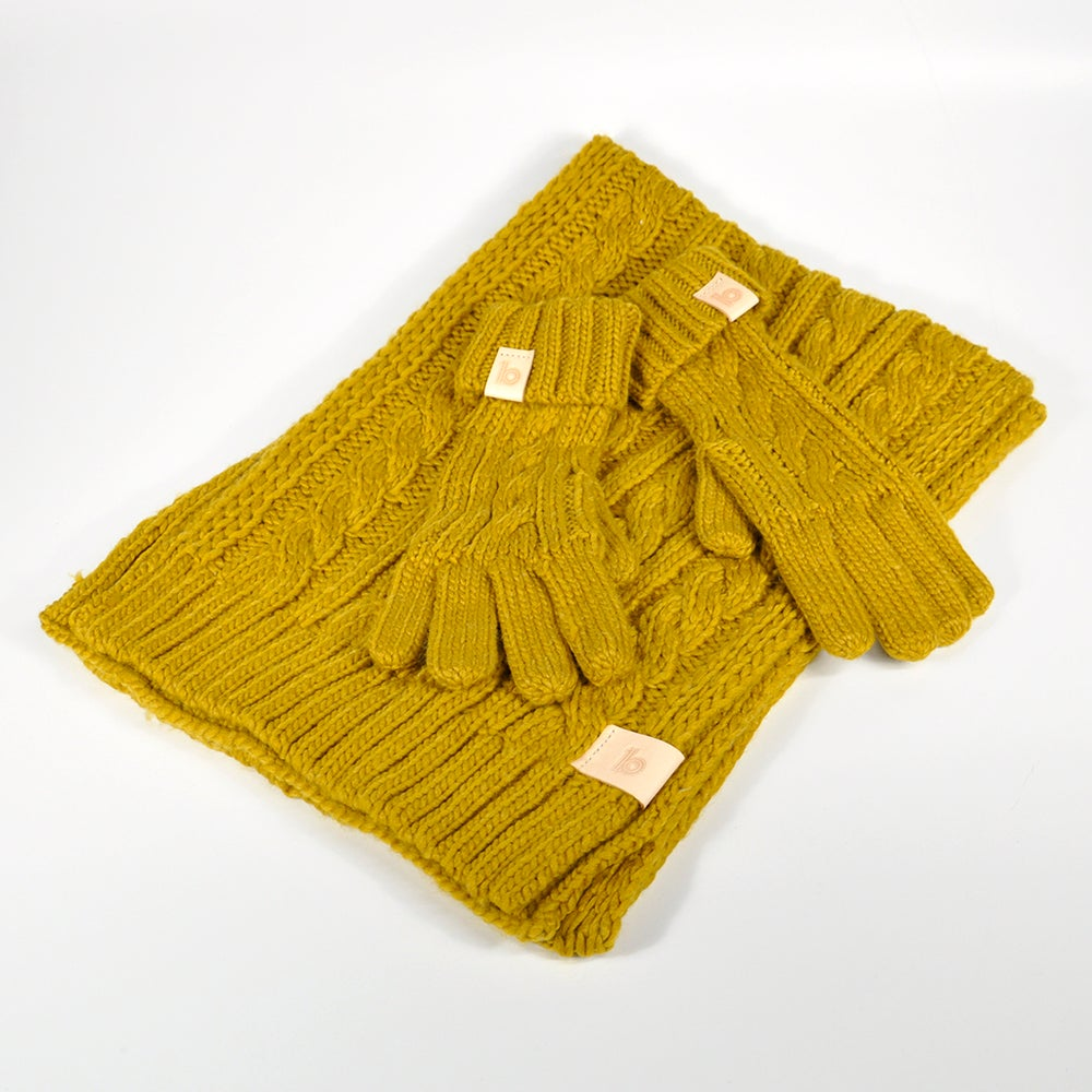 Image of Chunky Scarf and Gloves
