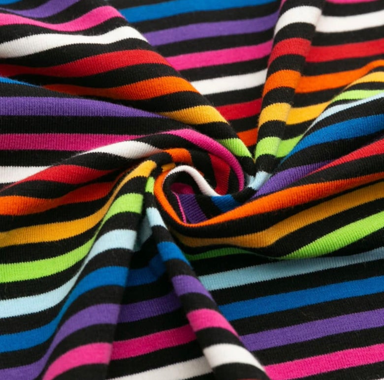 Image of Rainbow yarn dyed stripe