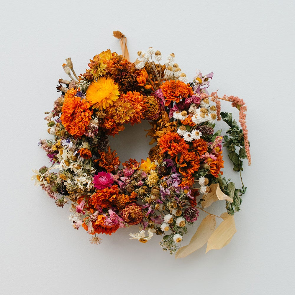 Image of Summer Flowers Wreath