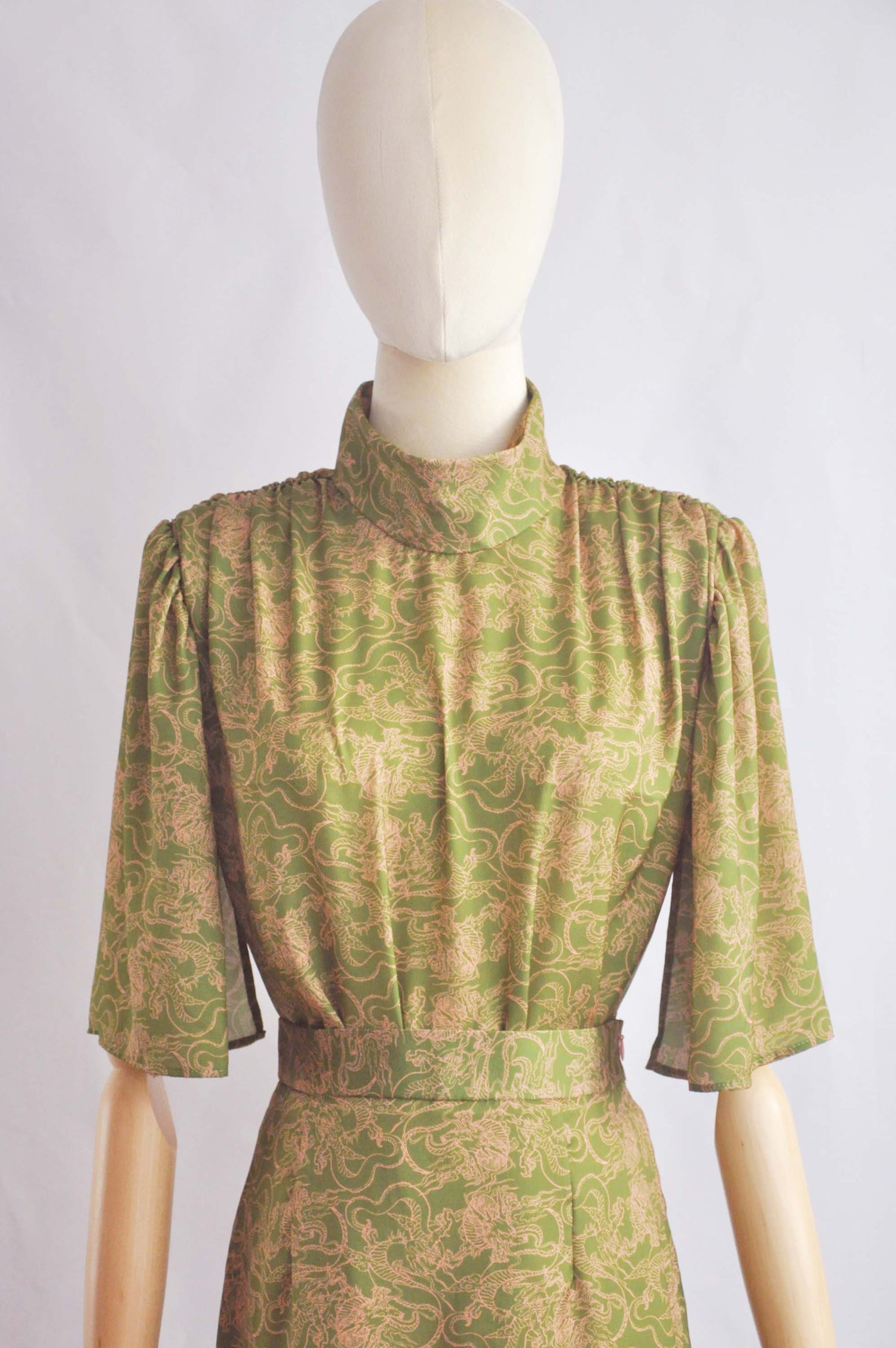 Image of PRINTED SATIN BLOUSE