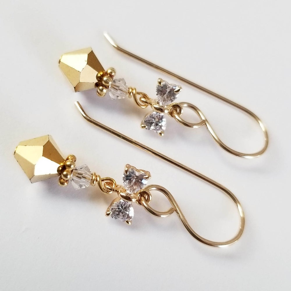 Image of Shiny Gold Bow Earrings