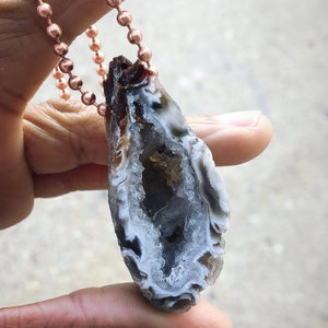 Image of Plain Jane Agate Geode Necklace