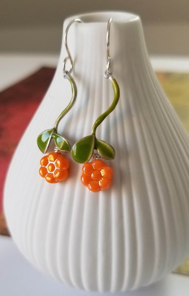 Image of Tangy Tangerine Earrings