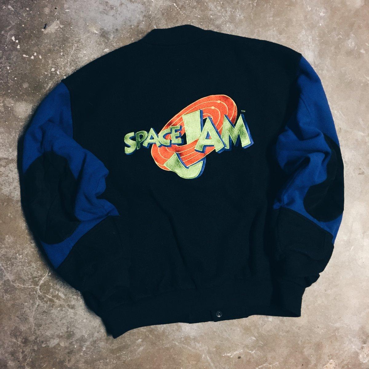 Image of Original 1996 Space Jam Warner Bros Varsity Jacket.
