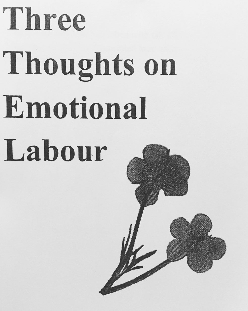 Three Thoughts on Emotional Labour (Zine)