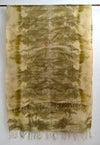 eco print cashmere shawl