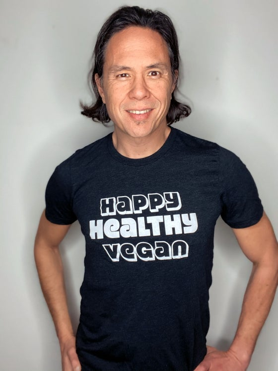 Image of Happy Healthy Vegan Unisex Tee - Black