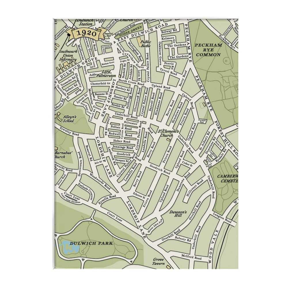Image of One Hundred Years Map trio – East Dulwich - SE22