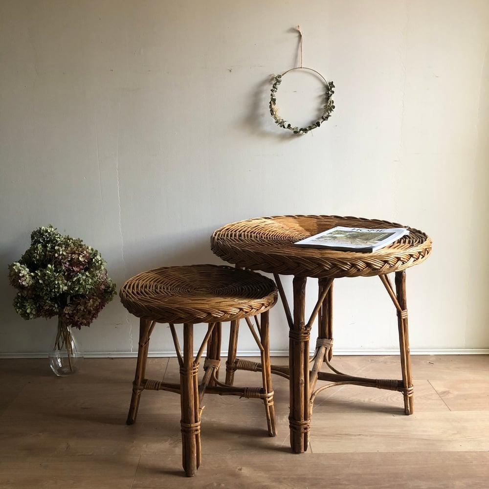 Image of Tables en rotin