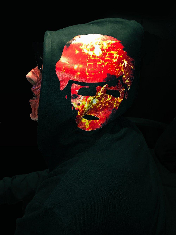 Image of FIRE FACE ZIP HOODIE