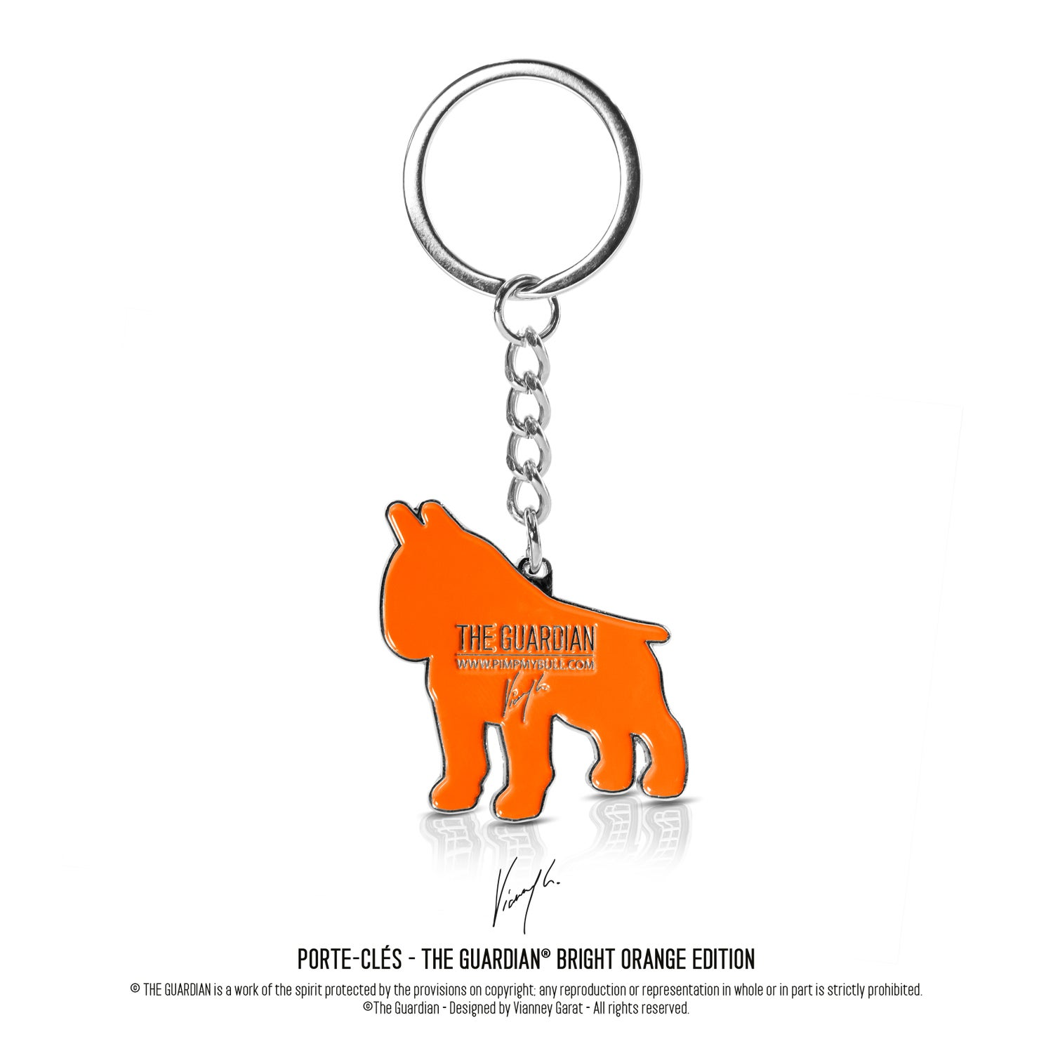 """Image of PORTE-CLÉS - THE GUARDIAN® """"BRIGHT ORANGE EDITION"""" LIMITED EDITION"""