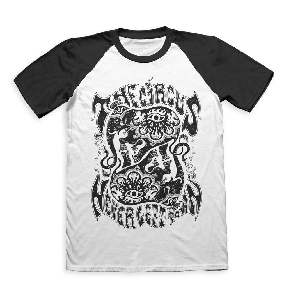 Image of 'CIRCUS' Baseball T-shirt