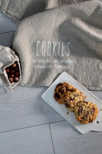 Image of Torchon lin lavé 'Cookies' (TRCHNCOOKIES)