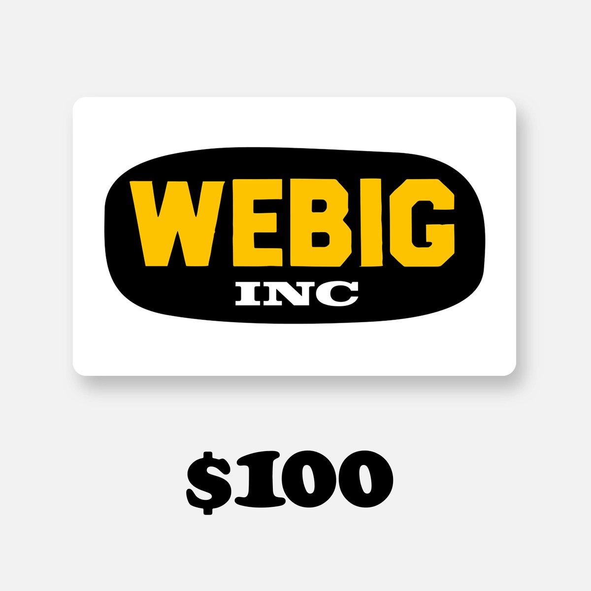Image of WEBIG GIFT CARD $100